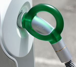 ev charing plug on haring station